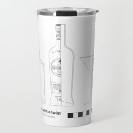 Gin Martini with a Twist - Archaeological Drawing Travel Mug