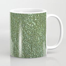 Silver green metal Coffee Mug