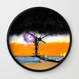 Night Spill Wall Clock