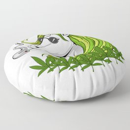 Hippie Unicorn Weed Smoking Marijuana Floor Pillow