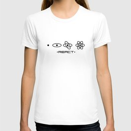 React JS unique design T-shirt