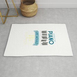 Funny Pianist Rug