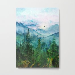 Spring Mountainscape Metal Print