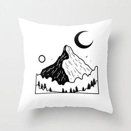 Montagnes dans les nuages 2 Throw Pillow
