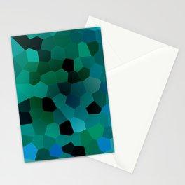 Dark Turquoise Shards Mosaic Pattern Stationery Cards