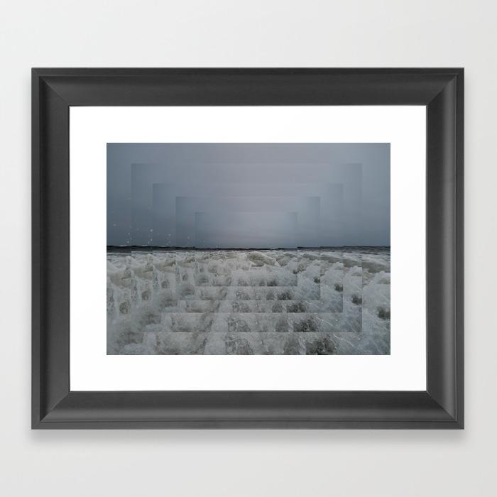 Step Into Liquid Framed Art Print by Michelledunn FRM857861