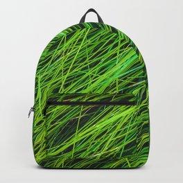 closeup green grass field texture background Backpack
