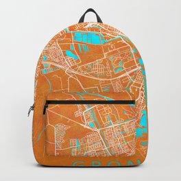 Groningen, Netherlands, Gold, Blue, City, Map Backpack