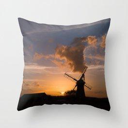 Sunset on the Norfolk Broads Throw Pillow