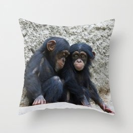 Chimpanzee 002 Throw Pillow