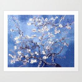 Vincent Van Gogh Almond BlossomS Blue Art Print