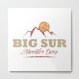 Big Sur Camping  TShirt Adventure Camp Shirt Camper Gift Idea Metal Print