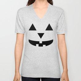"""Bozo"" Jack O'Lantern - Halloween, Pumpkin, Orange, Black Unisex V-Neck"