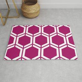 Jazzberry jam - violet - Geometric Polygon Pattern Rug