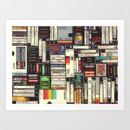 Cassettes, VHS & Games Kunstdrucke