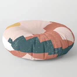 Set of modern minimalist abstract aesthetic illustrations, boho home prints, minimal stairs print Floor Pillow