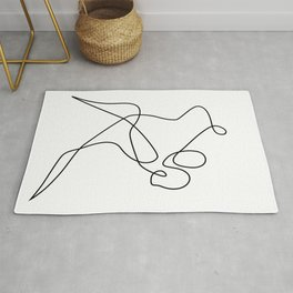 minimal line dance Rug