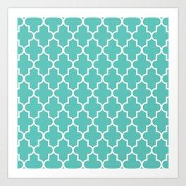 Moroccan - Turquoise Art Print