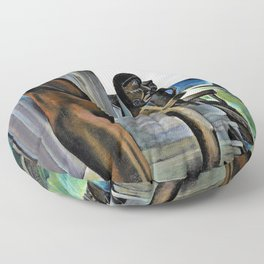 Emily Carr - Blunden Harbour - Digital Remastered Edition Floor Pillow