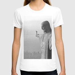 Christ the Redeemer, Rio de Janeiro, Brazil death defying dare devil black and white photography T-shirt