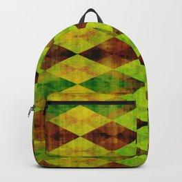 Green rectangle design Backpack