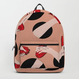 I give you my heart PINK #pattern Backpack