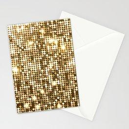 Golden Metallic Glitter Sequins Stationery Cards