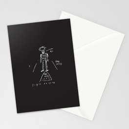 80s Punk Rock, ska record cover, Vectorised Basquiat Stationery Cards