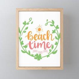 Beach Time - Adventure Design Framed Mini Art Print