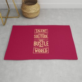 Lab No. 4 Talent Is Formed Johann Goethe Life Motivational Quotes Rug
