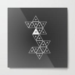 Unrolled D20 Metal Print