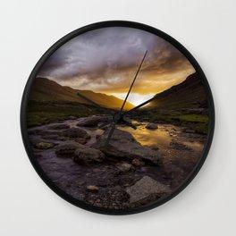 Valley Of Light Wall Clock