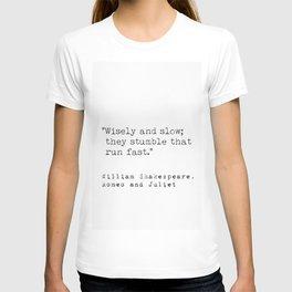 William Shakespeare, Romeo and Juliet T-shirt