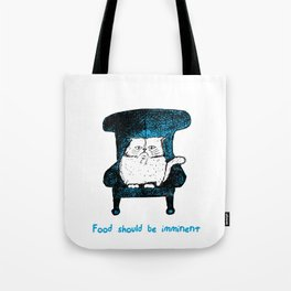 Food should be Imminent (Blue) Tote Bag