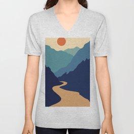 Mountains & River II Unisex V-Neck