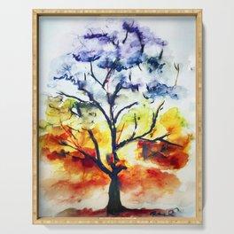 Chakra Tree of Life Serving Tray