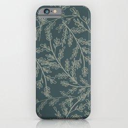 Winter Ice Art Dark Green iPhone Case