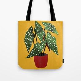 Begonia maculata pot watercolor Tote Bag
