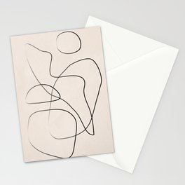 Abstract Line I Stationery Cards