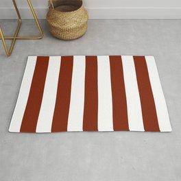Kenyan copper - solid color - white stripes pattern Rug