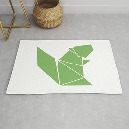 Squirrel origami Rug