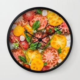 Heirloom Tomatoes Wall Clock