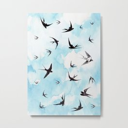 Swallows Metal Print