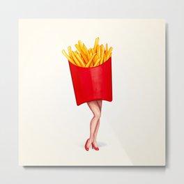 Fries Pin-Up Metal Print