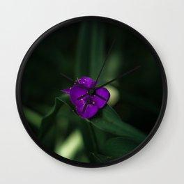 Purple Beauty - Botanical Print Wall Clock