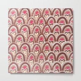 pink watercolor arch pattern Metal Print