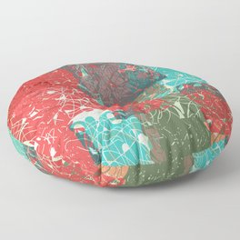 abstract 033 Floor Pillow