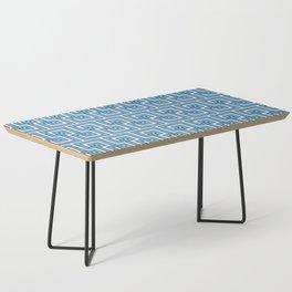 Greek Key - Turquoise Coffee Table