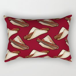 Aussie Sausage BBQ in Red, Large Rectangular Pillow