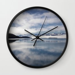 Mirroring Lake Tekapo Wall Clock